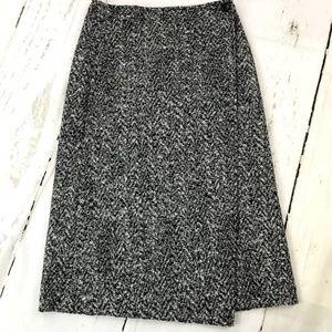 Theory Gantrima Wool Wrap Skirt